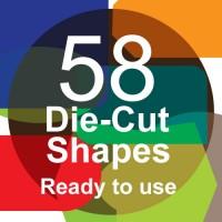 Die-cut shaped cards (58 choices)