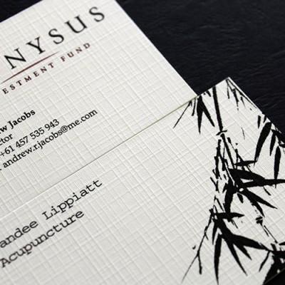Classic Linen business cards 100 lb