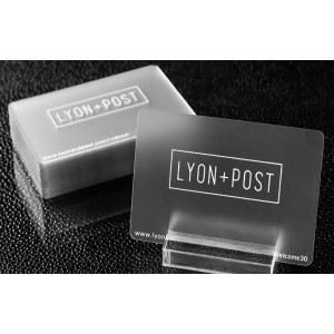 Plastic Frosted cards 30ml — PBC