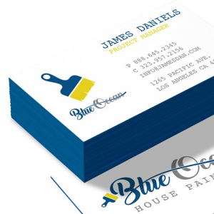 Colored Edge on Uncoated cards (32pt)