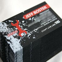 Black Paper cards 14pt with Colored Printing — PPC