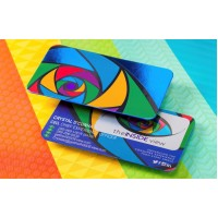 Silk cards with Cold Foil (28pt) —PBC