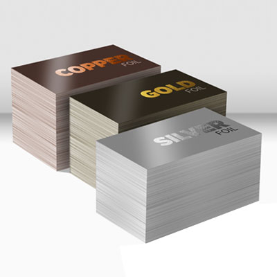 Metallic Foiled Business cards