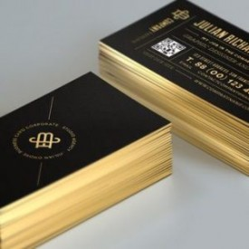 Colored Edges cards