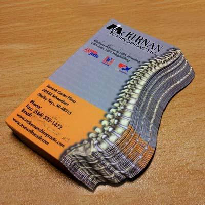custom die cut cards ppc - Custom Die Cut Business Cards