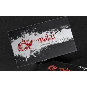 Silk cards (16pt) with Metallic Ink — PBC