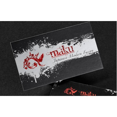Silk cards cards (16pt) with Metallic Ink — PBC