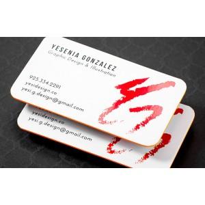 Silk cards with SpotUV  (16pt) — PBC